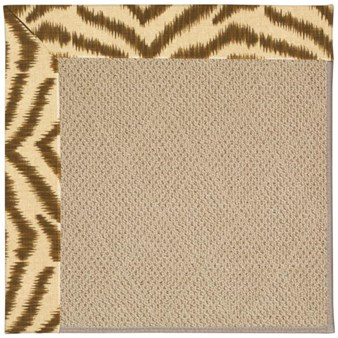 Capel Rugs Creative Concepts Cane Wicker - Couture King Chestnut (756) Rectangle 12' x 15' Area Rug