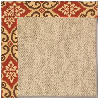 Capel Rugs Creative Concepts Cane Wicker - Shoreham Brick (800) Rectangle 12' x 15' Area Rug