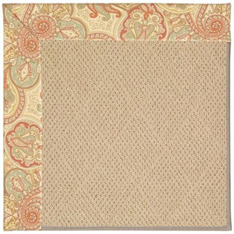 Capel Rugs Creative Concepts Cane Wicker - Paddock Shawl Persimmon (810) Rectangle 12' x 15' Area Rug