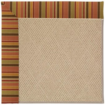 Capel Rugs Creative Concepts Cane Wicker - Tuscan Stripe Adobe (825) Rectangle 12' x 15' Area Rug