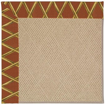 Capel Rugs Creative Concepts Cane Wicker - Bamboo Cinnamon (856) Rectangle 12' x 15' Area Rug