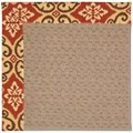 Capel Rugs Creative Concepts Grassy Mountain - Shoreham Brick (800) Octagon 4