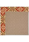 Capel Rugs Creative Concepts Grassy Mountain - Shoreham Brick (800) Octagon 6' x 6' Area Rug
