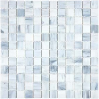 "Anatolia Bliss Baroque Glass Mosaic 1"" x 1"" : Carrara 35-067"
