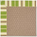 Capel Rugs Creative Concepts Grassy Mountain - Tux Stripe Green (214) Rectangle 4