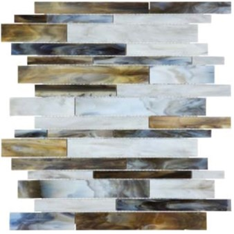 Anatolia Bliss Baroque Glass Mosaic Random Strip : Corallo 35-085