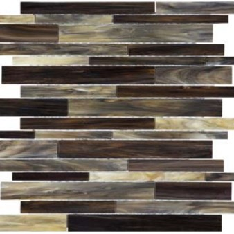Anatolia Bliss Baroque Glass Mosaic Random Strip : Paradiso 35-086