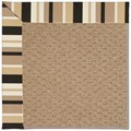Capel Rugs Creative Concepts Raffia - Granite Stripe (335) Octagon 4