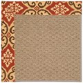 Capel Rugs Creative Concepts Raffia - Shoreham Brick (800) Octagon 4