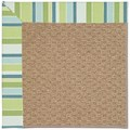Capel Rugs Creative Concepts Raffia - Capri Stripe Breeze (430) Octagon 6