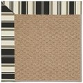 Capel Rugs Creative Concepts Raffia - Down The Lane Ebony (370) Octagon 10