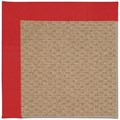 Capel Rugs Creative Concepts Raffia - Canvas Jockey Red (527) Octagon 12