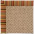 Capel Rugs Creative Concepts Raffia - Tuscan Stripe Adobe (825) Rectangle 7