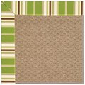 Capel Rugs Creative Concepts Raffia - Tux Stripe Green (214) Rectangle 12