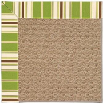 Capel Rugs Creative Concepts Raffia - Tux Stripe Green (214) Rectangle 12' x 15' Area Rug
