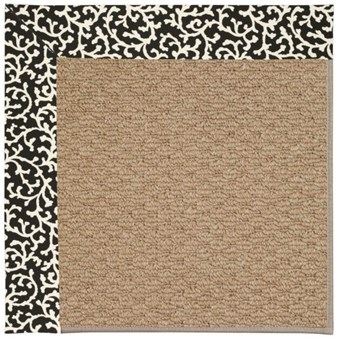 Capel Rugs Creative Concepts Raffia - Coral Cascade Ebony (385) Rectangle 12' x 15' Area Rug