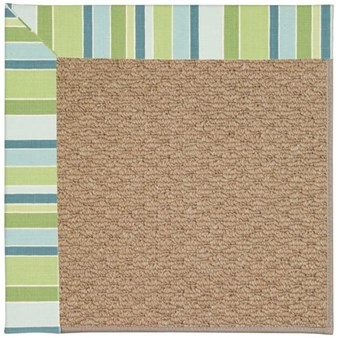 Capel Rugs Creative Concepts Raffia - Capri Stripe Breeze (430) Rectangle 12' x 15' Area Rug