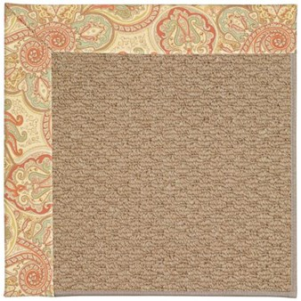Capel Rugs Creative Concepts Raffia - Paddock Shawl Persimmon (810) Rectangle 12' x 15' Area Rug