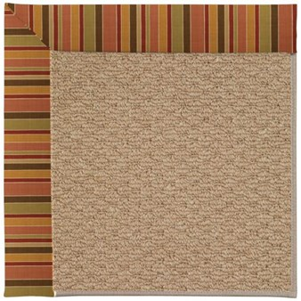 Capel Rugs Creative Concepts Raffia - Tuscan Stripe Adobe (825) Rectangle 12' x 15' Area Rug