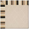 Capel Rugs Creative Concepts White Wicker - Granite Stripe (335) Octagon 4