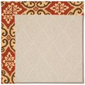 Capel Rugs Creative Concepts White Wicker - Shoreham Brick (800) Octagon 4