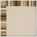 Capel Rugs Creative Concepts White Wicker - Kalani Coal (330) Octagon 6