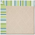 Capel Rugs Creative Concepts White Wicker - Capri Stripe Breeze (430) Octagon 6