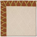 Capel Rugs Creative Concepts White Wicker - Bamboo Cinnamon (856) Octagon 6