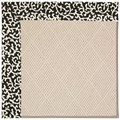 Capel Rugs Creative Concepts White Wicker - Coral Cascade Ebony (385) Octagon 8