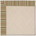 Capel Rugs Creative Concepts White Wicker - Dorsett Autumn (714) Octagon 8