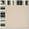 Capel Rugs Creative Concepts White Wicker - Down The Lane Ebony (370) Octagon 10