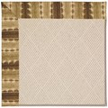 Capel Rugs Creative Concepts White Wicker - Java Journey Chestnut (750) Octagon 10