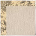 Capel Rugs Creative Concepts White Wicker - Cayo Vista Graphic (315) Octagon 12