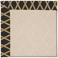 Capel Rugs Creative Concepts White Wicker - Bamboo Coal (356) Octagon 12
