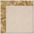 Capel Rugs Creative Concepts White Wicker - Cayo Vista Sand (710) Octagon 12