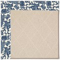 Capel Rugs Creative Concepts White Wicker - Batik Indigo Blue (415) Rectangle 3