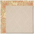 Capel Rugs Creative Concepts White Wicker - Paddock Shawl Persimmon (810) Rectangle 4
