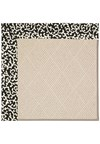 Capel Rugs Creative Concepts White Wicker - Coral Cascade Ebony (385) Rectangle 4' x 6' Area Rug