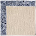 Capel Rugs Creative Concepts White Wicker - Paddock Shawl Indigo (475) Rectangle 6