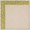 Capel Rugs Creative Concepts White Wicker - Coral Cascade Avocado (225) Rectangle 7