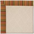 Capel Rugs Creative Concepts White Wicker - Tuscan Stripe Adobe (825) Rectangle 7