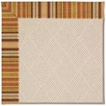 Capel Rugs Creative Concepts White Wicker - Vera Cruz Samba (735) Rectangle 8