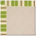 Capel Rugs Creative Concepts White Wicker - Tux Stripe Green (214) Rectangle 8