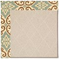 Capel Rugs Creative Concepts White Wicker - Shoreham Spray (410) Rectangle 8