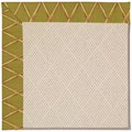Capel Rugs Creative Concepts White Wicker - Bamboo Tea Leaf (236) Rectangle 9