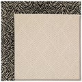 Capel Rugs Creative Concepts White Wicker - Wild Thing Onyx (396) Rectangle 9