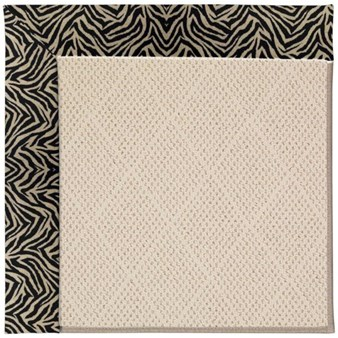 Capel Rugs Creative Concepts White Wicker - Wild Thing Onyx (396) Rectangle 12' x 15' Area Rug