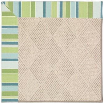 Capel Rugs Creative Concepts White Wicker - Capri Stripe Breeze (430) Rectangle 12' x 15' Area Rug