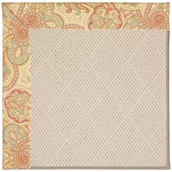 Capel Rugs Creative Concepts White Wicker - Paddock Shawl Persimmon (810) Rectangle 12' x 15' Area Rug