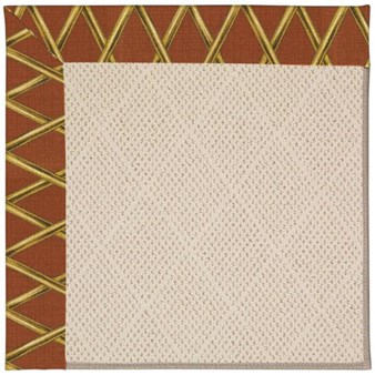 Capel Rugs Creative Concepts White Wicker - Bamboo Cinnamon (856) Rectangle 12' x 15' Area Rug